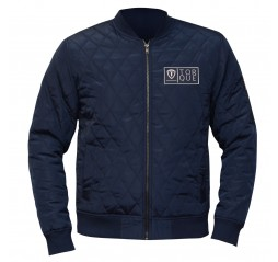 Vibe Zip Up Fitted Jacket Navy